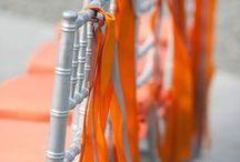 Grey/Orange Wedding