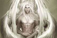 Angelic /  Angel: A supernatural being or spirit, often depicted in humanoid form with feathered wings on their backs and halos around their heads. Angelic beings have been seen by people both religious and not, and continue to inspire and intercede.