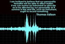 "Ghost Voices / Otherwise known as EVP, electronic voice phenomena is the recording of mysterious voices from ""beyond."""