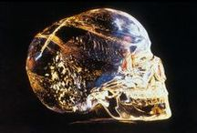 Crystal Skulls / There are over a dozen rare crystal skulls in private and public collections. All are believed to originate from Mexico and Central America.  Many believe these skulls were carved thousands or even tens of thousands of years ago by an ancient Mesoamerican civilization.