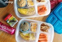 Back to School Eats! / Fun lunch and snack ideas for the fall, along with entertaining notes to include for your kiddos!