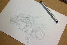 Stippling Step by Step - Pontilhismo Work in Progress / Akira WIP 21cm x 30 cm Copic pen 0.1