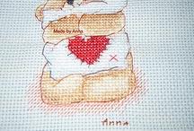 Ricami / Cross stitch, punto croce - lavori