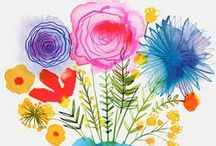 Flowers: Illustration, Posters & Patterns
