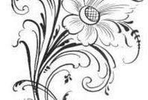 Riscos para pintura / Decoração telas, peças de madeira, mobiliário e afins