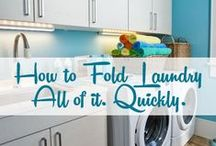 Laundry Room / Decorating ideas. Laundry tips, tricks and shortcuts. / by Tawsha & Patti (organized CHAOS online)