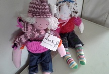 Poppen en zo / Hand made dolls mostly made from old children clothes.each doll is different / by Ans Keersmaekers