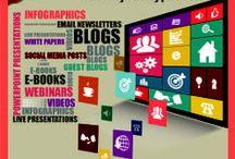 Social media / Les meilleures infographies sur les réseaux sociaux et leur application en terme de stratégie web (Facebook, Twitter, Pinterest, Linkedin, Tumblr...)