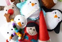 Felt ornaments / Sweet things made with felt