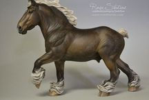 Andre / Traditional scale heavy draft horse sculpted by Sarah Rose www.rosehorse.com