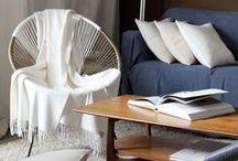 Plaids / Throws / Accessoire idéal dans votre salon, le plaid Brun de Vian Tiran vous offre des fibres d'exception au service de votre style et de votre confort. Comme tout accessoire le plaid change de pièce et s'invite en terrasse, dans la bibliothèque, dans la chambre, en picnic ... / by BRUN DE VIAN TIRAN