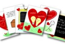 Nerdy Science Valentines / Nerdy science Valentine's Day cards for that special someone. They are eco-friendly too!