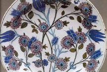 Iznık 'Şamişi' Üslubu- Iznik 'Damascus' Style Pottery