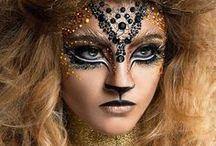 Bodypaiting, Make-up / fascinující, ale na sebe bych si to asi úplně nenamatlala..