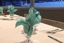 Touch of Turquoise Rehearsal Dinner / A touch of turquoise goes perfectly with our tropical, coastal setting! Check out Ashley & Gregory's rehearsal dinner in The Neptune Room.