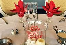 Red Coral Wedding / Shane and Crystal had a beautiful and vibrant wedding reception in the (newly renovated) Hunter's Point Room on September 3, 2016.