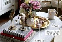 COFFEE TABLE STYLING, DECOR AND BOOKS / Lots of ideas for the perfect Coffee Table styling and decor. Coffee Table makeover and DIY ideas. Don't forget the perfect Coffee Table Books!