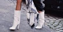 WHITE BOOTS OUTFITS & STREETSTYLES / Streetstyles and Fashion Blogger Outfits with White Boots