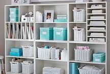 Craft Room / Inspiring craft rooms to make and create in. Craft room organization tips and tricks.
