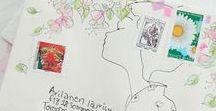 mail art / mail art, enveloppes, mots