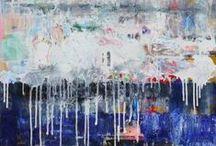 Paintings by Ingeborg Herckenrath / diverse schilderijen, abstract art, astracte kunst