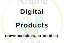 Arabic Seeds Downloadable Resources for Kids and Non-native Speakers / Arabic digital & printable resources to teach and practice Arabic with your kids/students. Especially designed with non-native speakers in mind! Resources to: - Practice the 4 skills of the language (reading, listening, writing, speaking),  - Learn daily life Arabic vocabulary - Integrate Arabic at home. Let's sow the seeds of the Arabic fluency from early childhood! #arabic #language #teach #homeschool #worksheets #printable #kids #muslim #preschool #kindergarten #school