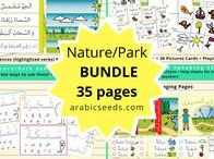Nature Activities & Arabic for Kids / A board about Nature/Park themed activities and crafts to associate with our #Arabic Teaching Resources! Learn, Live & Love Arabic!  #worksheets #kids #school #homeschool #preschool #kindergarten #nature #crafts