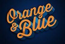 Orange & Blue / Celebrating IAG's Brand Colors: The #Blue #Umbrella and the #Orange Font