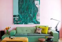 Color Trend: Teal & Rose / Inspired by the popular trend at the 2013 Milan Furniture Fair