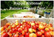 National Rainier Cherry Day / National Rainier Cherry Day is July 11th every year. Celebrate this sweet cherry with recipes, outfit inspiration, art, tips, and more. Look for Stemilt Rainier cherries at a store near you.