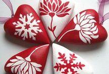 BAŞKALARININ: Taş Boyama - Stone Painting / Denemek veya sadece bakmak için seçtiğim taş boyama illeri -   Stones that I like very much.. I will try them...