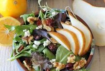 Thanksgiving Salads / Sweeten up your salads this Thanksgiving by tossing fresh fruit, like chopped apples and pears in your salad with these savory recipes!