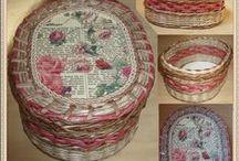 Плетение. Работы на заказ. / Плетение из бумажной лозы. Газетоплетение. Плетение из газет.