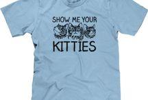 Funny Cat T-Shirts / NoiseBot.com funny cat t-shirts for women, men, & kids. Funny cat shirts with sayings.