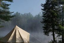 Camping / Camping, most often of the glamping variety. Campfires, bell tents, tent decor, camping locations, campfire cooking and more.