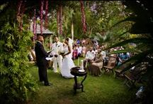Summer Wedding Under The Palms / Wedding & ceremony at Villa Botanica, St. Thomas, Virgin Islands. Wedding Planner: Edie Zuckerwar Events; Photographer: Gary Felton