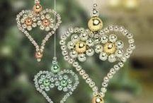 Karácsonyfadíszek gyöngyökkel 2