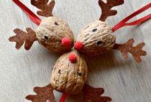 Karácsonyfadíszek termésekből