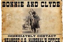 Gangsters_Bonnie and Clyde / Bonnie Parker and Clyde Barrow / by Jim Spencer