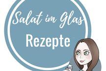 Salat im Glas Rezepte / Leckere Rezepte für Salat im Glas. Perfekt zum Mitnehmen oder Mittagessen im Büro oder der Arbeit.