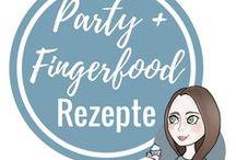 Fingerfood und Party Rezepte / Ideen für Party Rezepte für ein Buffet, wenn man mehrer Gäste hat. Unter anderem Fingerfood Rezepte bzw. Ideen für leckere Häppchen. Passend dazu Getränke und Nachspeisen.