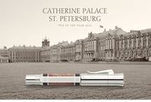 "Pen of the Year 2014 - Catherine Palace / The luxurious Special Edition of the ""Catherine Palace"" Pen of the Year combines 24-carat gold plating with gemstone workmanship of extraordinary refinement. #fountainpen #fueller #fuellhalter #weddinggift #handmadeingermany #limitededition"