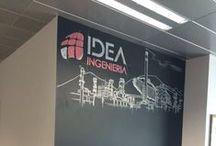 SEDES IDEA INGENIERIA ESPAÑA / Fotos, imágenes, dibujos, decorados de la nueva oficina de IDEA en el Polígono Industrial de Cartagena.