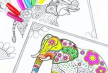 Fun printables and activities / These free printables will help keep the kids entertained with little cost or mess - perfect for when you're travelling, on the go or need a quick fix rainy day or summer holiday activity. There's also some fun colouring pages for kids and big kids alike!