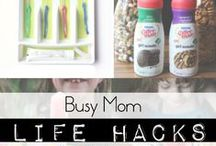 Busy Mum Life Hacks! / Being a mother can mean lots of busy days, so we've compiled top selection of our favourite mum hacks and life tips and tricks to save your time so you can spend the rest on the important stuff :-)
