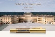 "Pen of the Year 2016 - Schloss Schönbrunn Vienna / We were very pleased to have acquired true artists of their craft for the design work of the ""Pen of the Year 2016"":  The conservator of the Vieux-Laque Room Silvia Miklin and the Japanese artist Tomizo Saratani who specialises in the Maki-e technique. We worked together developing a motif that is divided into three parts, yet comes together to make a whole. During the most time consuming phases, each of the three plates are first painted black, then polished and burnt several times by hand."