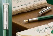 "Heritage Collection - Limited Fountain Pens / With colours, patterns and their extraordinary craftsmanship, Ottilie's lounge and Alexander's office of the Faber-Castell castle inspired the fountain pens of Graf von Faber-Castell's ""Limited Edition Heritage"". #fountainpen"