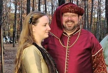 Our Medieval Wedding / These pictures are from mine and Stuart's wedding November 4, 2006 at Cloudland Canyon State Park in Rising Fawn, GA. We (and all our friends) are not only medieval re-enactors, but Stuart and I met at an SCA event.   Stuart and I are in middle 14th century attire. Everyone else's clothing varies.   Most of the pictures are by our friend Robert (aka Baron Gwydion) http://www.robertsreflections.com.
