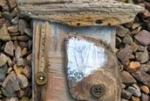 Ali Ferguson - Wood Work Archive / Hand stitched driftwood pieces 2012 - 2014