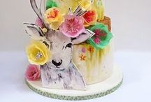 The Hand Painted Cake / Beautiful Cakes with hand painted detail